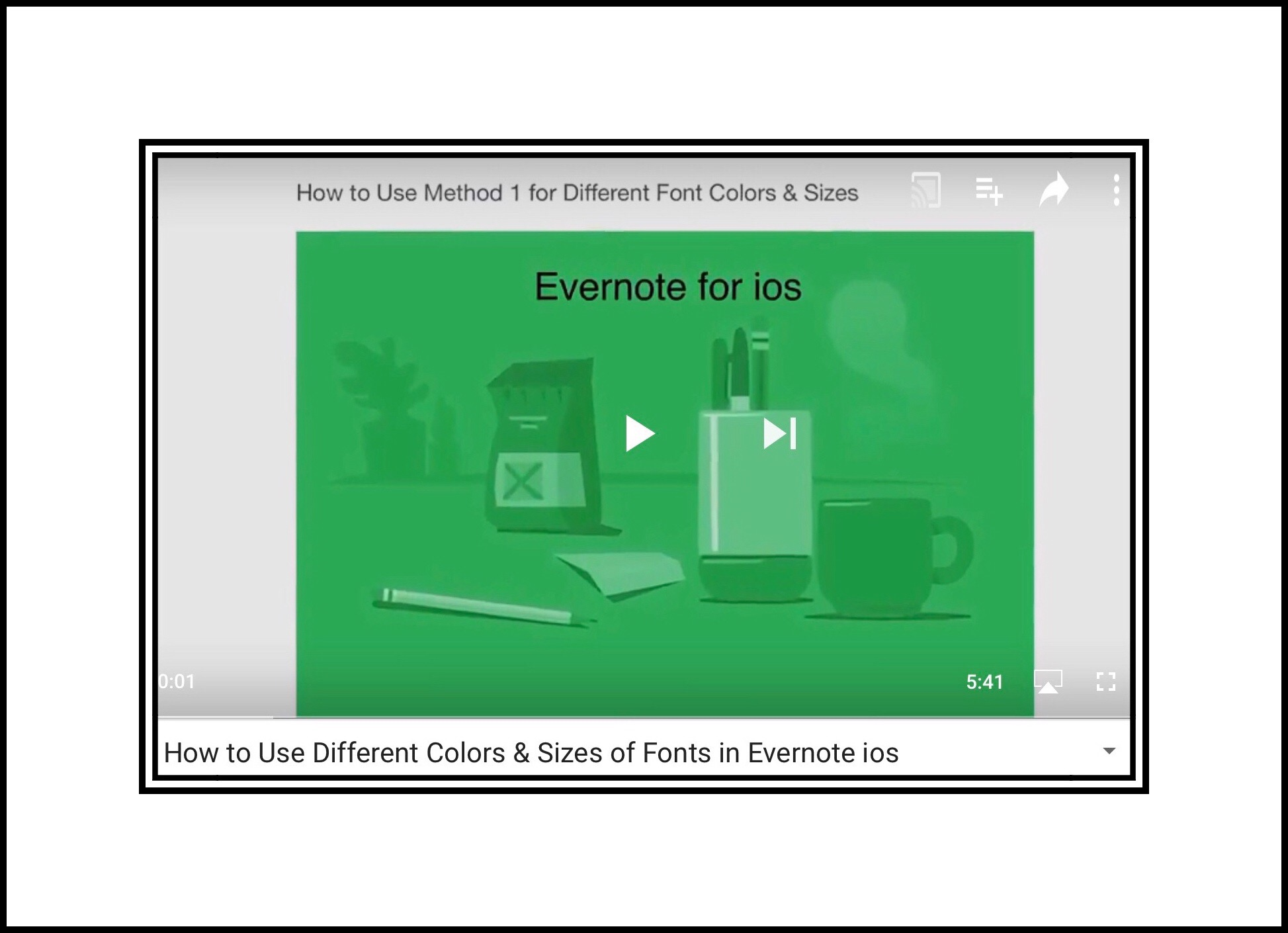 How to Use Different Colors & Sizes of Fonts in Evernote ios