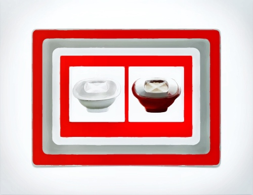 White and red Nordic Ware Popcorn Popper
