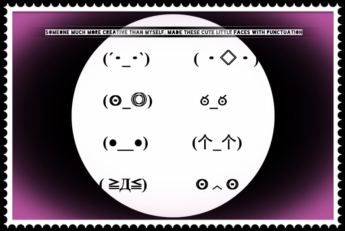 Punctuation faces