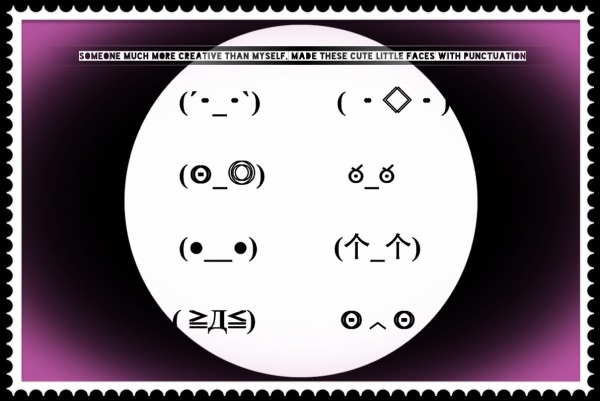 faces made with punctuation