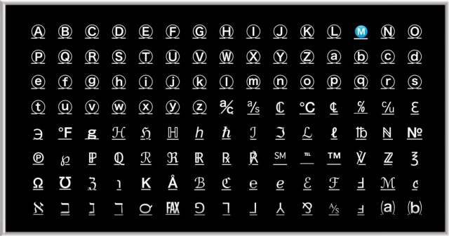 Fonts from the free app CoolKeyboard
