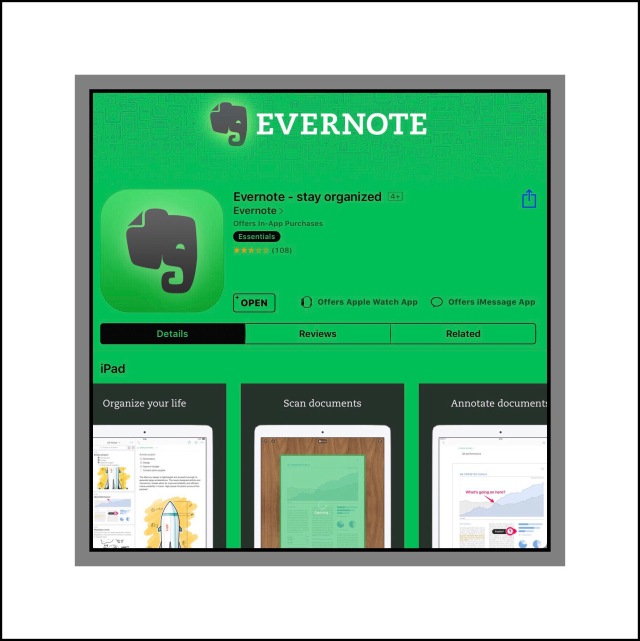 Evernote's New Redesigned ios s App