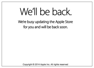 Apple Store We'll Be Back Message
