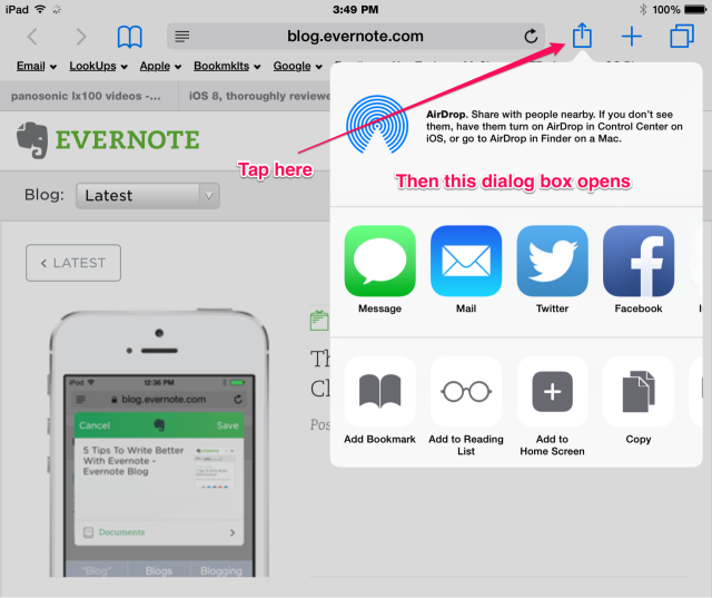 new ios 8 share extension