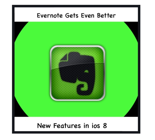 Evernote for ios 8 is even better.