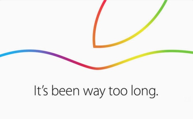 Apple's Oct.16th it's been way too long invite