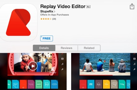 Replay iPad app