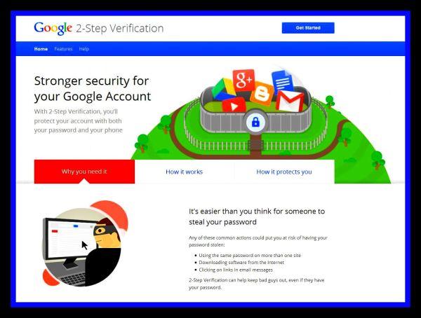 Google 2 Step Verify Get Started