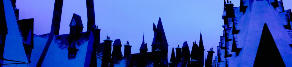 Sky and rooftops Hogwarts Disney World