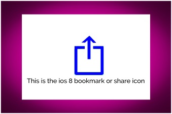 ios 8 share icon