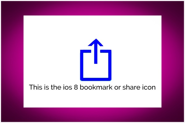 ios Share/Bookmark Icon