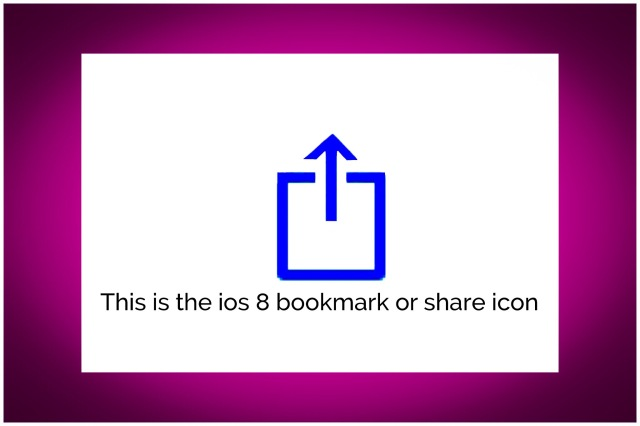 ios Share/Bookmark Icon