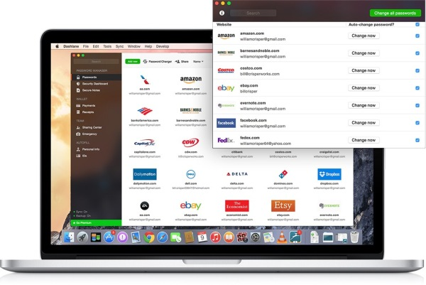 Dashlane's User Interface