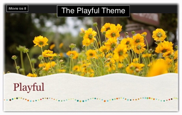 iMovie Playful Theme