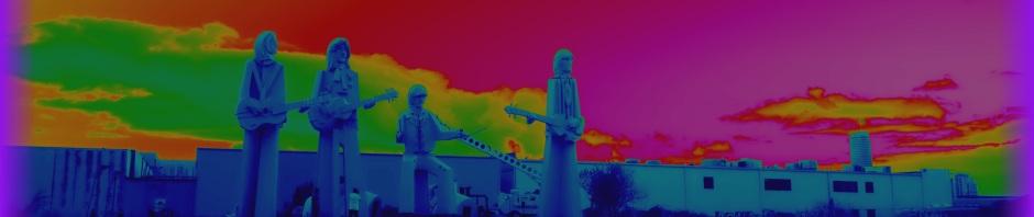 Giant Beatles Sculptures in Houston Texas