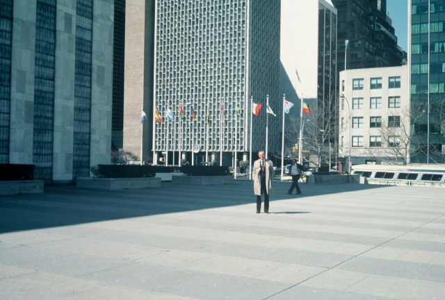 Dad at the UN in 1979