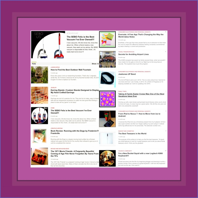 My Articles on HubPages