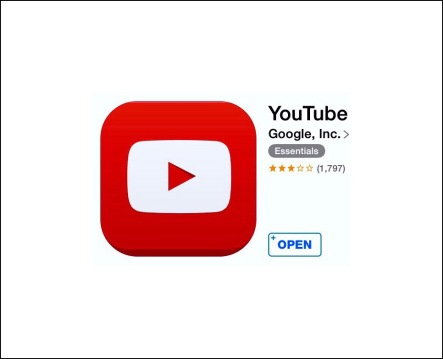 YouTube ios app icon 2014 | Note the # of stars based on user reviews