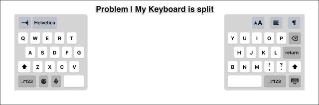 Problem, my keyboard is split