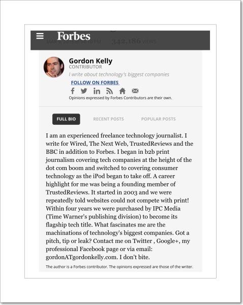 Gorden Kelly Forbe's Writer