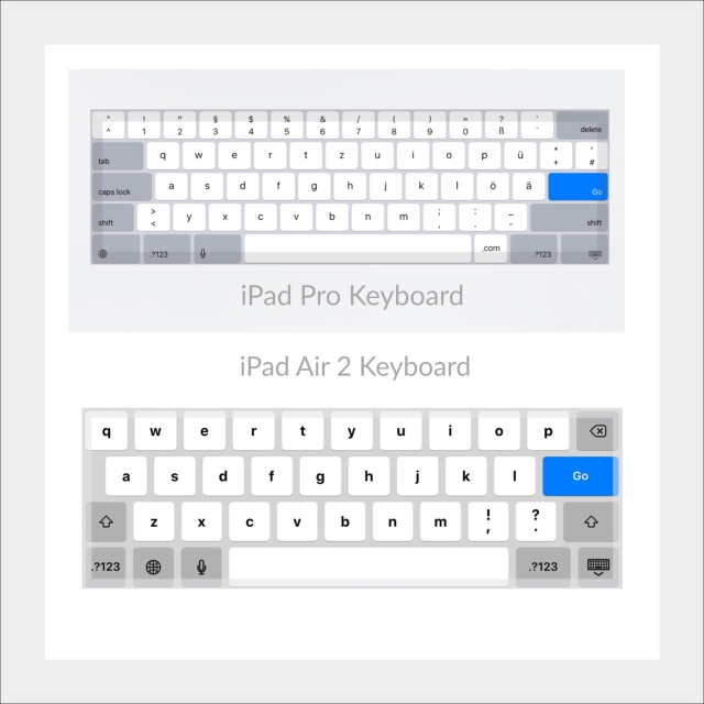 iPad Pro Keyboard versus iPad Air 2