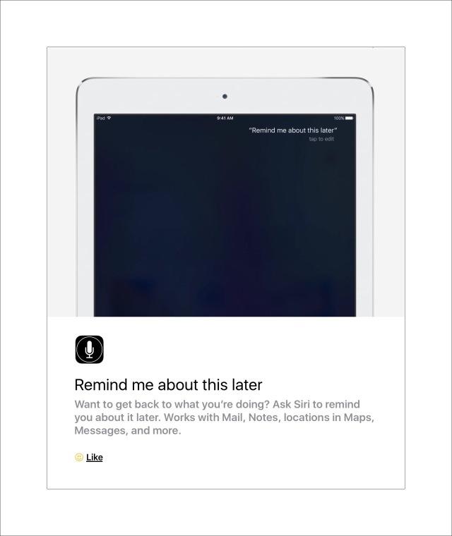 Ask Siri to create a reminder