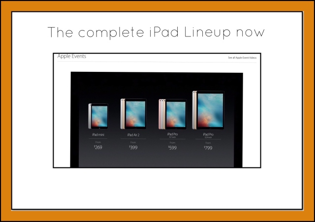 The complete iPad Lineup
