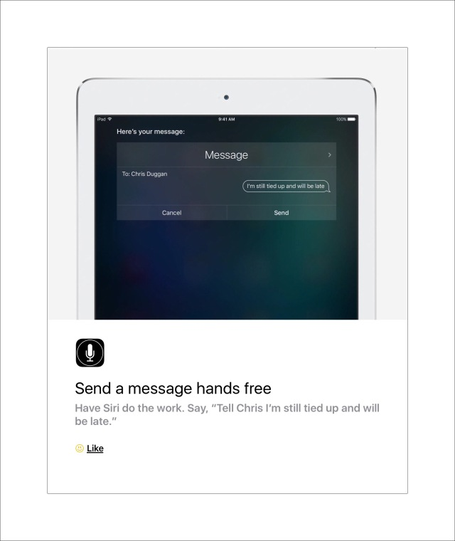 Siri can send text messages