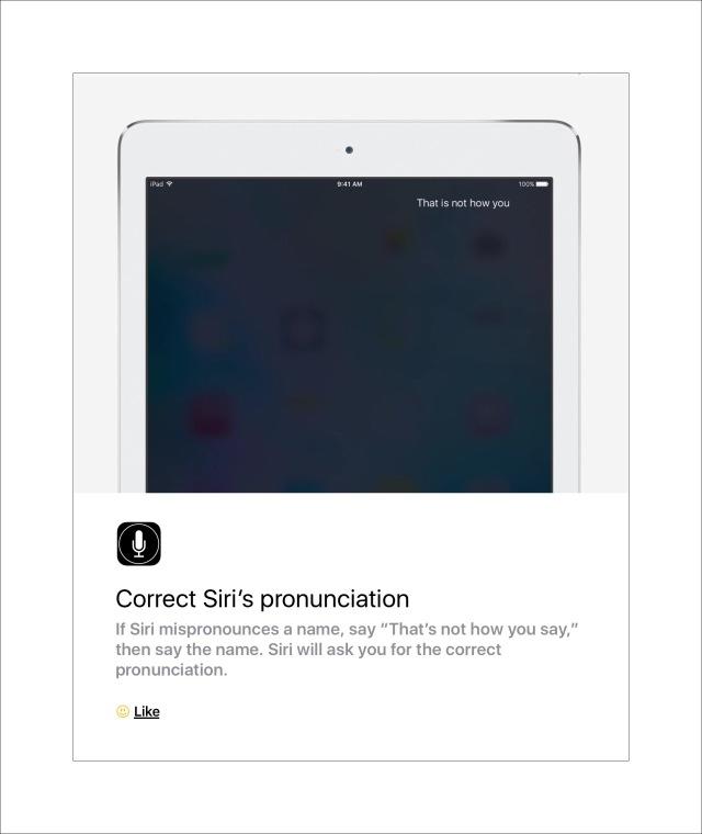 Correct Siri's pronounciation