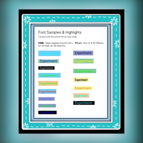 Highlights Created in Documents Pro App