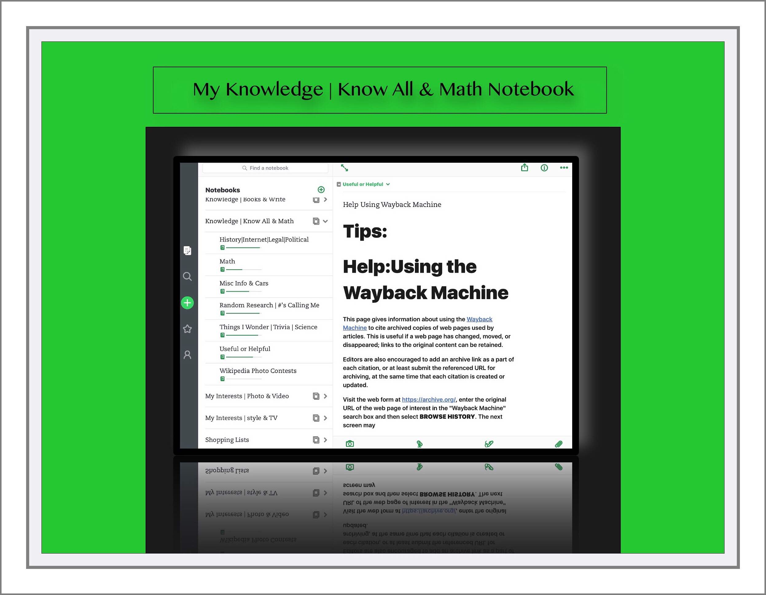 Part Ii An Illustrated Example Of How I Use Evernote My Whos