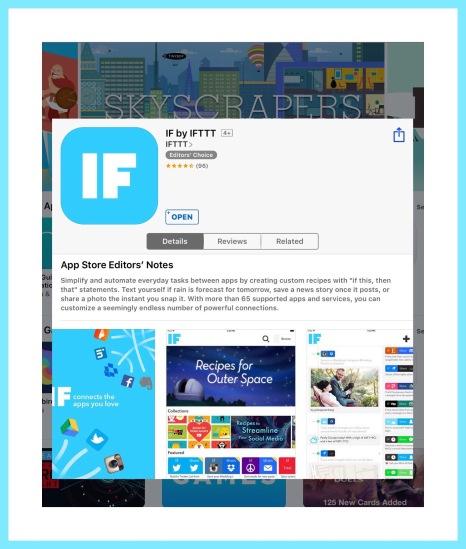 IFTTT ios app