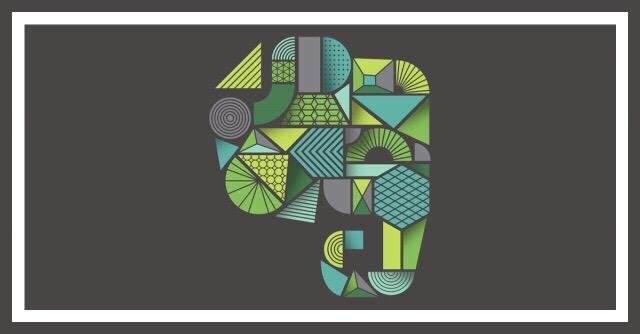 stylized Evernote logo