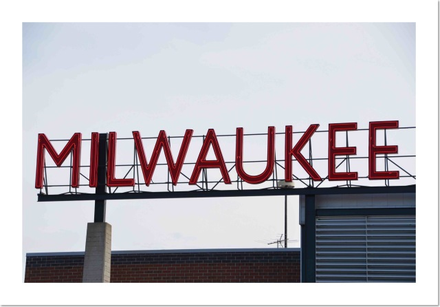 Milwaukee sign on a rooftop