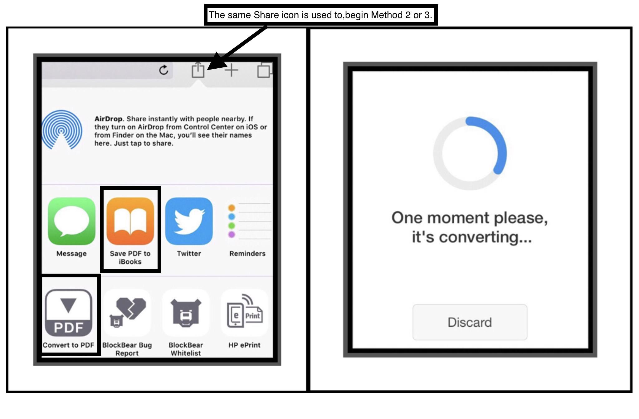 save pdf to ipad home screen