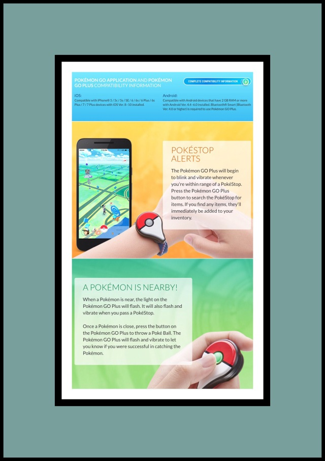 Features of PokemonGo Plus