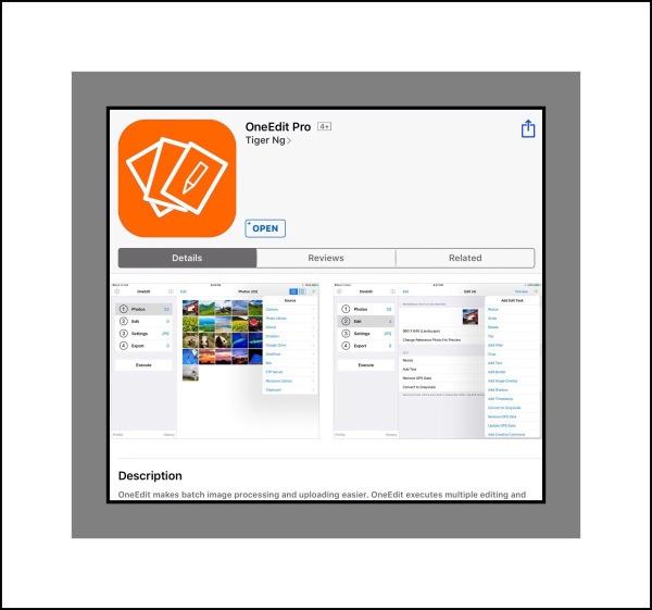 OneEdit Pro App Store screenshot