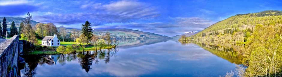 Idyllic lake scene