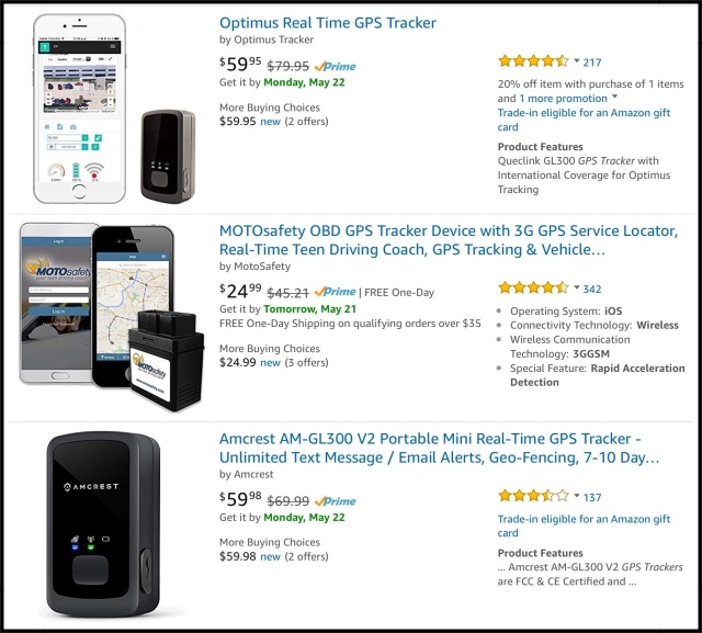 Amazon's Top Three Real Time GPS Trackers