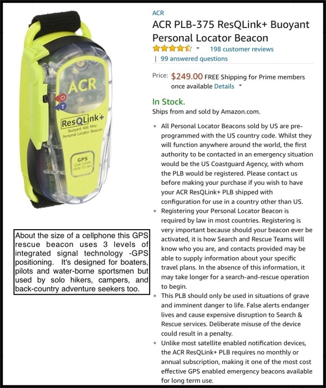 ACR GlobalFix Pro 406 2844 EPIRB Category II Rescue Beacon