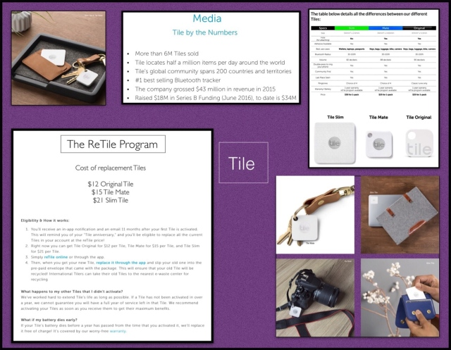 Overview of Tile's Product Line