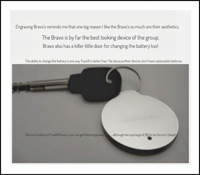 TrackR's can be engraved