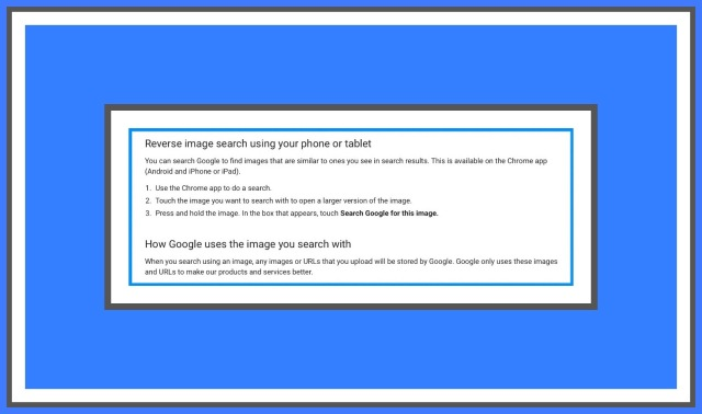 How to use Google Image Search on Mobile Devices