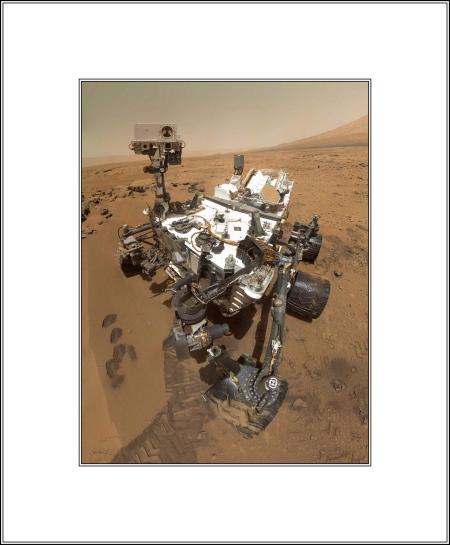 Curiosity the Mar's Rover's Selfie in 2012
