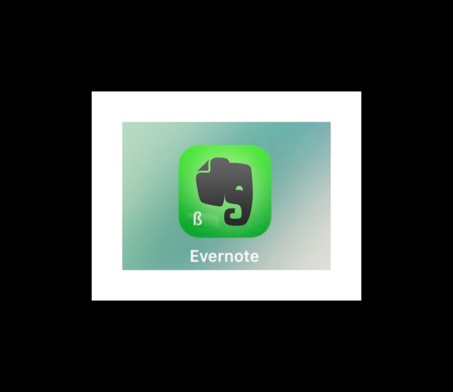 The Evernote Beta Version icon has a 'B' on it.