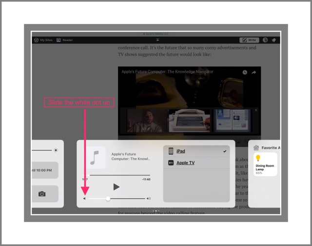 Screenshot of Control Center Sound