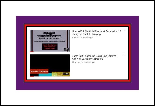 Both of my OneEdit Pro Tutorial Videos