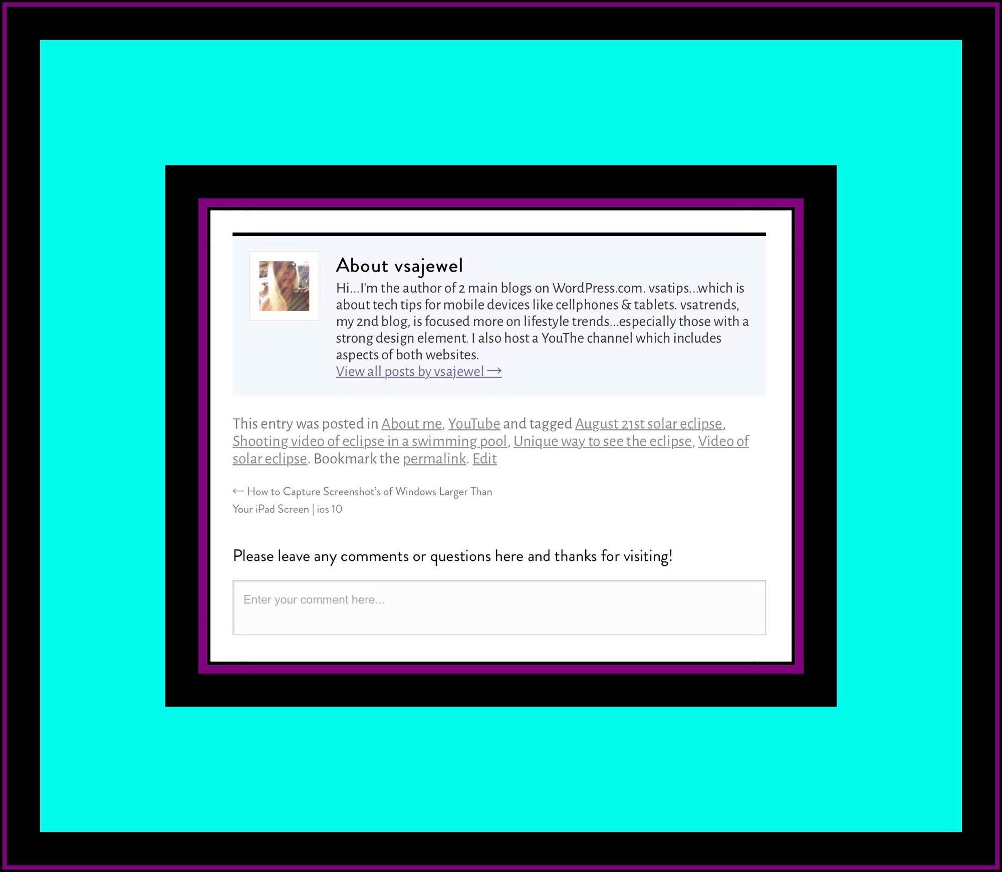 Comment section for vsatips Comment section for vsatips