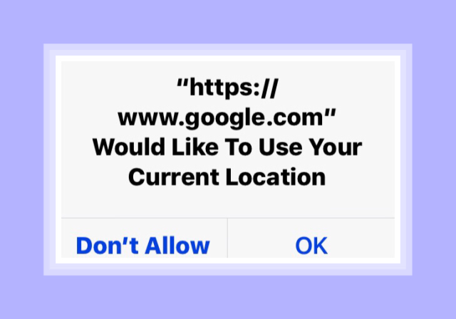 Google Woild Like to Use Your Current Location Notification