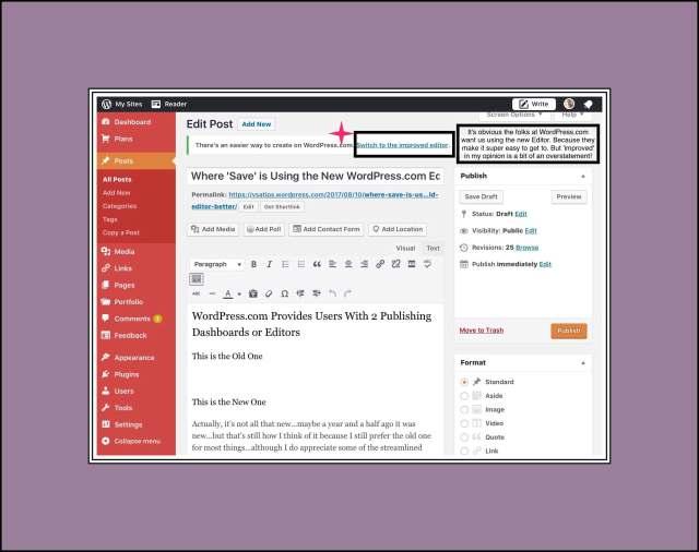 WordPress.coms Old Editor